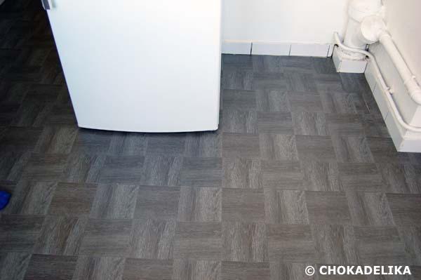 Le sol : nouveau revêtement en dalle PVC