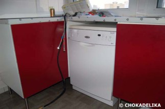 Installation du lave-vaisselle.
