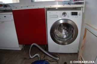 Installation de la machine à laver.