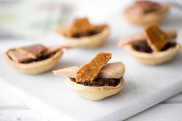 Tartelette foie gras nougatine